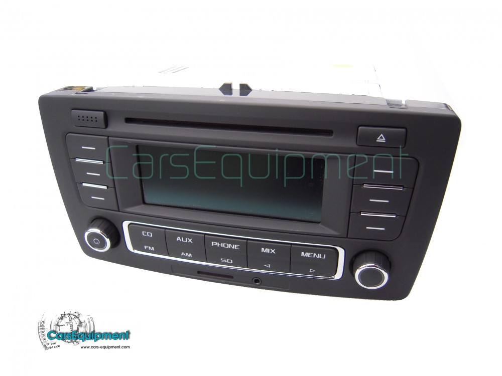 oem 1zd035185a car radio rcn210 with rds cd aux sd. Black Bedroom Furniture Sets. Home Design Ideas