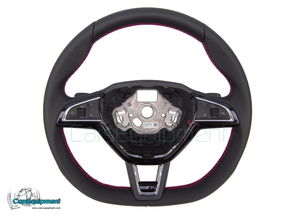 OEM VRS Flat Bottom MFSW Steering Wheel For Skoda Octavia 3