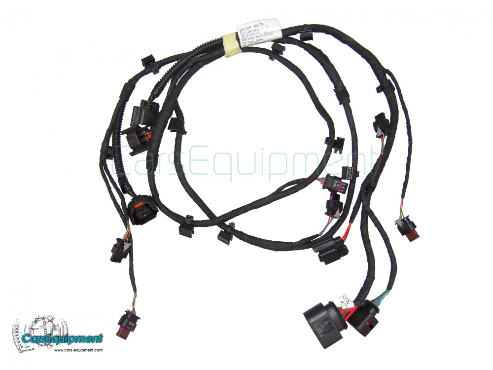 oem 5e0971095cm ops  pdc  pla front bumper wiring for skoda