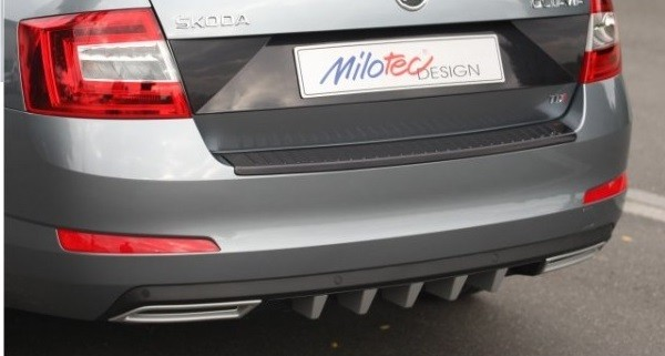 diffuser of rear bumper with disguises + exhaust fits, Škoda octavia