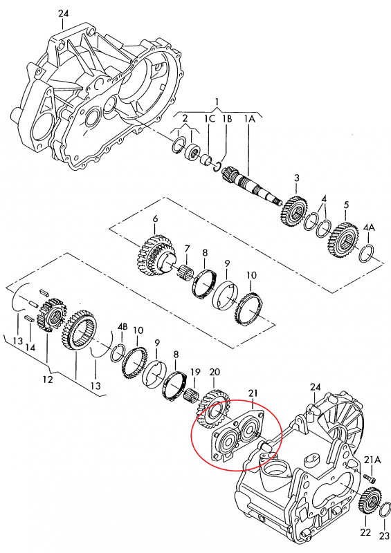 oem 02t311206h - mounting gearbox bearing