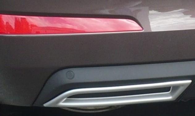 exhaust pipes imitation - abs - silver matt for skoda octavia 3