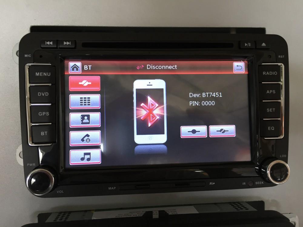 7 inch touch screen rds navigation for vw golf 6 passat. Black Bedroom Furniture Sets. Home Design Ideas
