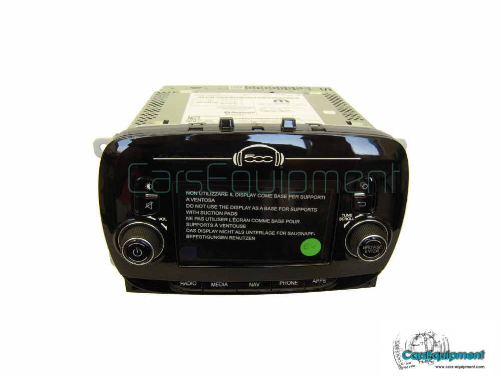 oem navigation radio for fiat 500 facelift with. Black Bedroom Furniture Sets. Home Design Ideas