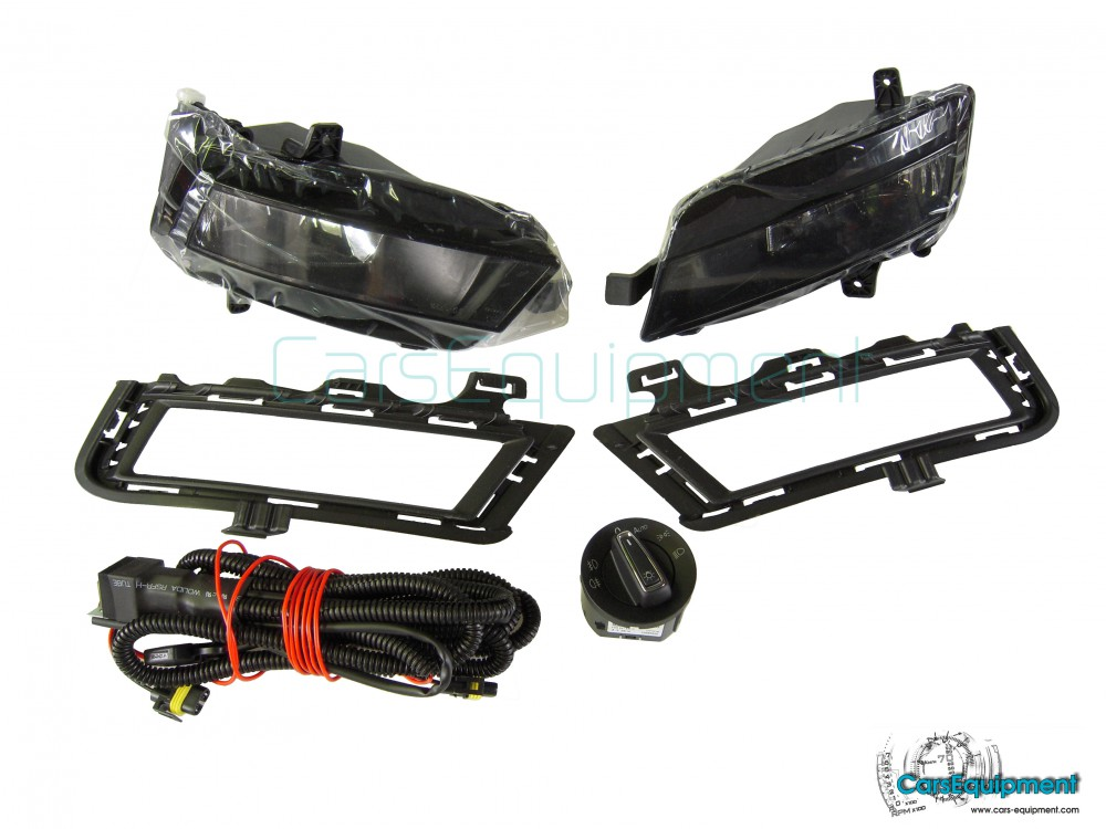 Fog Lights Kit / Set for VW Golf 7 - Include Bullbs Wiring and ...