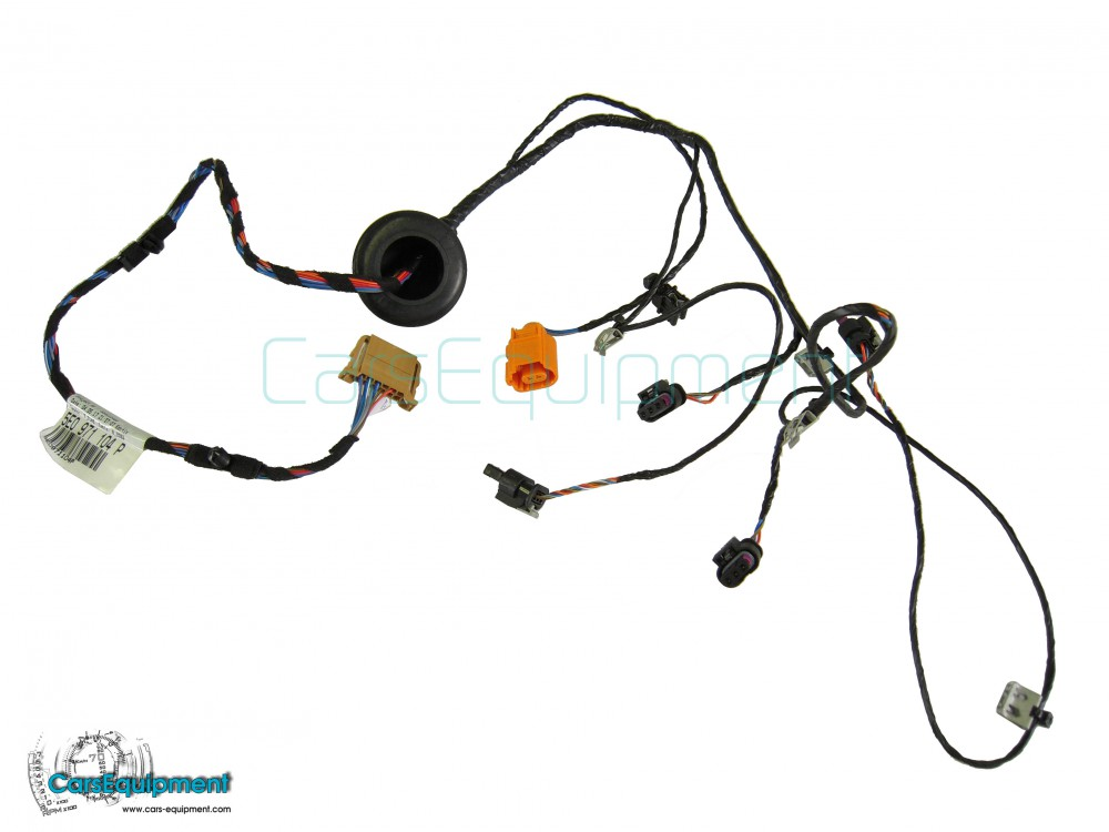 oem 5e0971104p rear bumper pdc wiring    harness for skoda