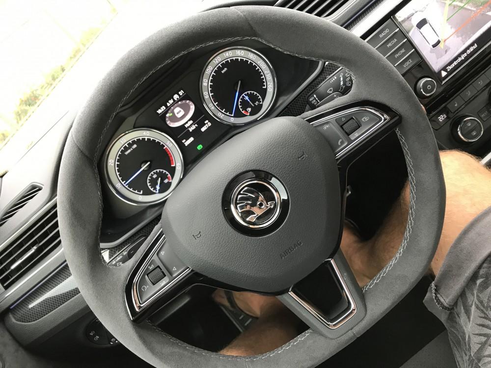 How To Flip Cars >> OEM 565064241A GCW Flat Bottom DSG Steering Wheel Alcantara - Skoda Superb 3 SportLine / Octavia ...
