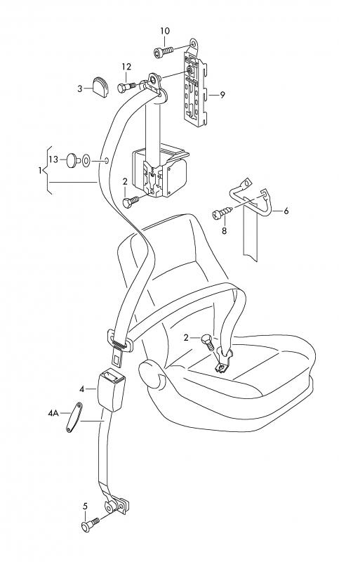 Oem 5j0857702b Skoda Fabia Roomster Safety Seat Belts Tension