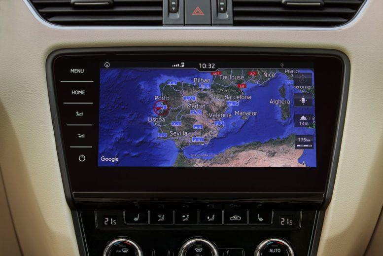 oem 5e0919606d lcd navigation display columbus octavia 3 facelift