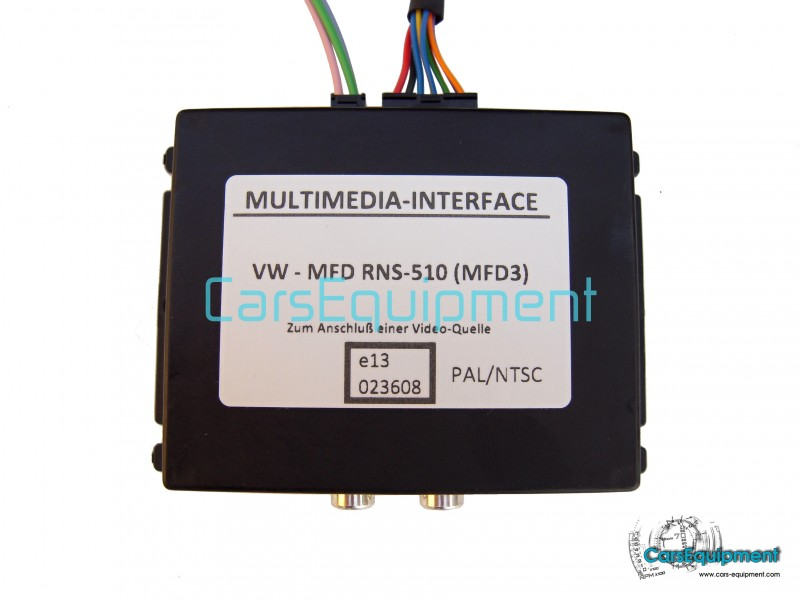 Multimedia Interface MFD3 for RNS510, RCD510, RNS315 - PAL / NTSC
