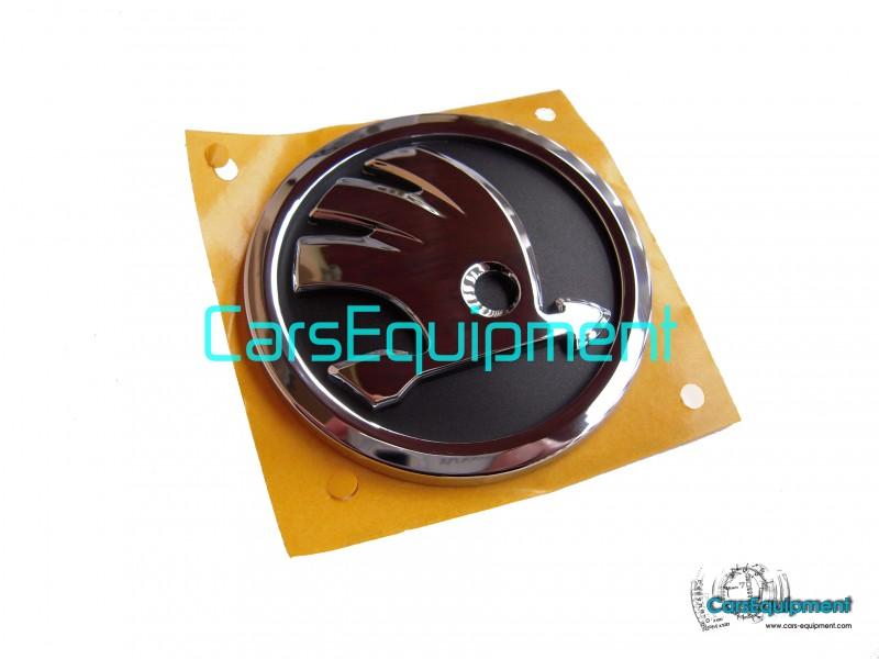 front and back Octavia Superb NEW DESIGN 80mm SKODA emblem